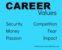 Your motives for doing what you do: career values