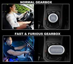 Normal gearbox vs. Fast & Furious gearbox. #carmemes