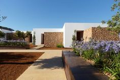 adk-architecture – Enjoy the Great Outdoors! Mediterranean Architecture, Mediterranean Homes, Landscape Architecture, Landscape Design, Ibiza, Garage Guest House, Atrium House, Casa Patio, Modern Rustic Homes