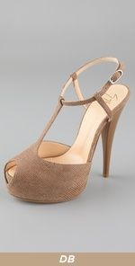 Giuseppe  again  - Peep Toe T Strap Pumps. They are textured! love!
