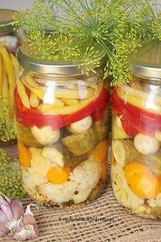 pikle warzywne | Domowy Smak Jedzenia .pl Mason Jars, Polish, Cooking, Kitchen, Vitreous Enamel, Mason Jar, Brewing, Nail, Cuisine