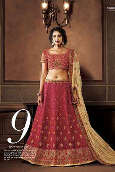 Red Color Art Silk Fabric Lehenga Choli