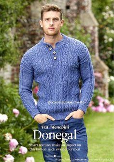 Photo Mens Knit Sweater, Donegal, Knitting Patterns Free, Sweater Patterns, Knitwear, Knit Crochet, Sweaters For Women, Shirt Dress, Pullover