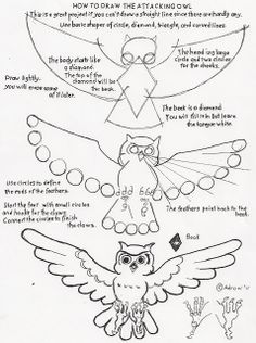 OWL How to Draw Worksheets for The Young Artist