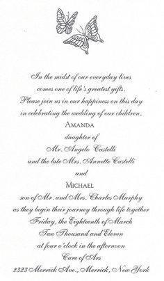 #Butterfly Design on a #White #Shimmer #WeddingInvitation that @foreverfriends_ created! #Wedding http://foreverfriendsfinestationeryandfavors.com