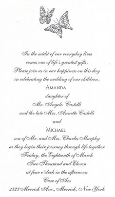 #Butterfly Design on a White Shimmer #WeddingInvitation that created by! http://www.foreverfriends.cceasy.com/
