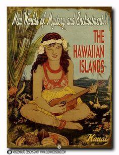 New Worlds of Mystery... -Hawaiiana Vintage Hawaii - Hawaiiana