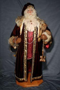 Santa's Legends Mrs Claus, Santa Clause, Father Christmas, Christmas Holidays, Clay People, Santa Decorations, Santa Doll, Santa Figurines, Santa Suits