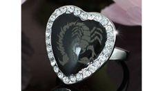 Szív alakú, skorpiós, Swarovski kristályos gyűrű-6 - Gyűrű méretek - alkategória - Nemesacél ékszer - Steeel nemesacél ékszer webáruház