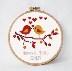 Wedding Cross Stitch Pattern Personalized от AnimalsCrossStitch