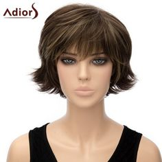 Trendy Dark Brown Mixed Short Shaggy Straight Synthetic Adiors Wig For Women #>=#>=#>=#>=#> Click on the pin to check out discount price, color, size, shipping, etc. Save and like it!