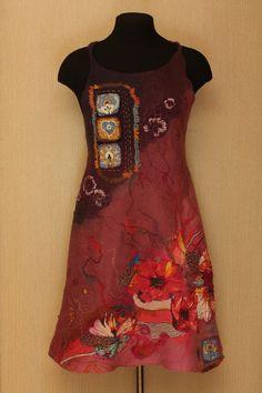 Floral Kaleidoscope / Felted Clothing / Dress by LybaV on Etsy, $250.00