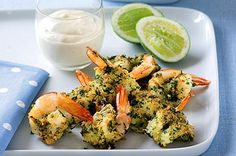 Crunchy prawns dipped in zesty mayonnaise are an exciting idea to start off your summer meal.