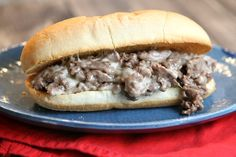 Recipe for Philly Cheese Steak Sandwiches - a delicious, authentic recipe from America's Test Kitchen's 6 Ingredient Solution cookbook.