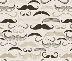 mustaches fabric by pencreations on Spoonflower - custom fabric