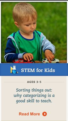 This simple activity teaches #sorting and #counting for preschoolers. Click for details. #STEM