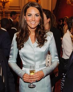 Kate Middleton in Christopher Kane at the Olympics Opening Ceremony. Photo by Getty Images