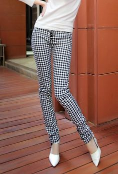 shepherd check Tartan leggings, fashion women high waist-ed check plaid tights for you, fashion plaid pencil pants leggings #shepherd #check #tartan #leggings www.loveitsomuch.com