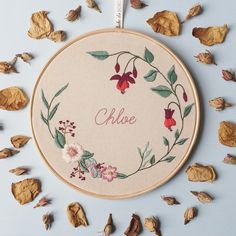graduation presents for the gal Hand Embroidery Stitches, Embroidery Hoop Art, Hand Embroidery Designs, Ribbon Embroidery, Floral Embroidery, Cross Stitch Embroidery, Embroidery Patterns, Ideias Diy, Cross Stitching