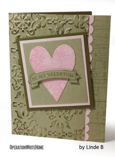 Yummy texture makes a valentine card extraspecial!