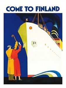 Finland Travel, Greater Than, North Africa, Travel Posters, Cruise, Poster Prints, Europe, Vintage, Scandinavian