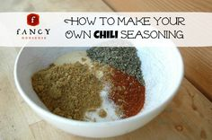 Ingredients: 1/3 cup Chili Powder 1 Tbs Salt 1.5 Tbs Garlic Powder 2 Tbs Cumin 1 Tbs Basil Directions: Combine in a bowl.  Store in a cute jar. When it's time to use 3 Tablespoons of the mix = 1 packet of the store-bought seasoning.