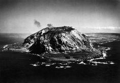 WORLD WAR II. The Pacific Campaign. February 1945. Iwo Jima (Japanese island). Mt. Suribachi.