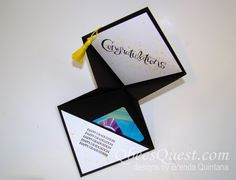 Qbee's Quest: Grad Cap Gift Card Holder Tutorial