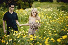 wild flower engagement photos - Google Search