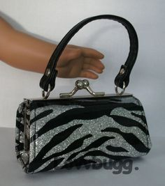 Silver Sparkly Purse Bag Silver Strap for American Girl Doll Accessory Lovvbugg!