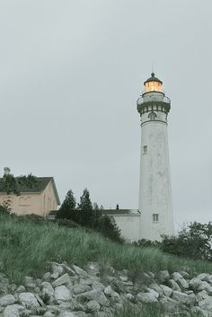 South Manitou Island Lighthouse at Dusk | Flickr - Photo Sharing!