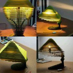 lampara con cortes transversales carton - Buscar con Google