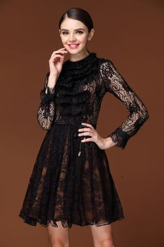 <3 Comfy Dresses, Lace Dresses, Fashion Beauty, Fashion Looks, Lil Black Dress, Ceremony Dresses, Beautiful Gowns, Lovely Dresses, Vogue
