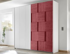 Chambre design adolescent blanche et rouge NATHEO 2 Bedroom Wardrobe, Cupboard, Tall Cabinet Storage, Outdoor Decor, Armoire, Furniture, 3d, Home Decor, Dress