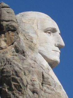 George Washington profile at Mt Rushmore, South Dakota