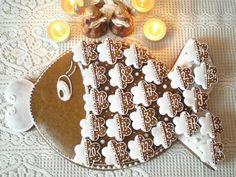 Hit letošních Vánoc: perníkový adventní kalendář Creative Lettering, Cookie Decorating, Gingerbread Cookies, Fondant, Christmas Diy, Food And Drink, Baking, Holiday Decor, Sweet