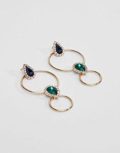 Pull&Bear - femme - accessoires - dernières nouveautés - boucles d'oreilles anneaux bijou - or - 05992390-V2017