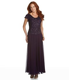Jkara Drapeneck Beaded Gown | Dillard's Mobile