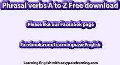 Phrasal verbs free download pdf