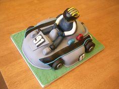 Chocolate cake shaped as a go-kart (www.facebook.com/fireflycakes) Birthday Celebration, Birthday Parties, Birthday Cakes, Racing Cake, Cupcake Cakes, Cupcakes, Cake Shapes, Cakes For Men, Party Themes