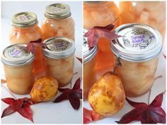 Spicy canned pears