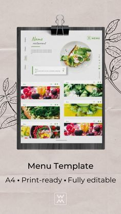 This Restaurant Menu Template is well organized and structured. All files are print-ready. Restaurant Menu Template, Menu Restaurant, Lunch Menu, Templates, Design, Stencils, Vorlage, Models