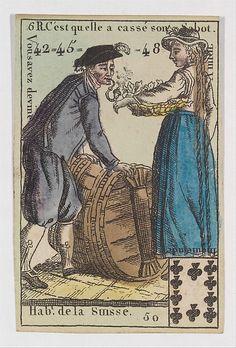 Hab.t de la Suisse from Playing Cards (for Quartets) 'Costumes des Peuples Étrangers'