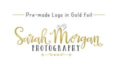 Event planning business names - premade gold foil name logo leaf photography event planner business names