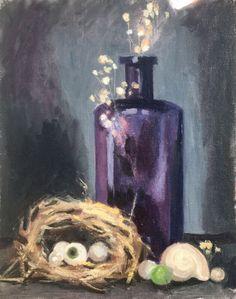 Purple bottle painting