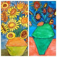 For the Love of Art: 2nd Grade: Van Gogh Sunflowers