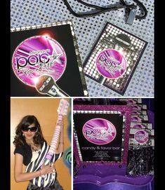 poparazzi pop star invitations and printables from Soiree-EventDesignShop.com