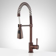 Braswell Single-Hole Kitchen Faucet with Pull-Down Spring Spout - Oil Rubbed Bronze