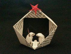 Belén de papel miniatura - Pequeño belén - Decoración navideña