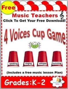 Looking for Exciting kindergarten music lesson plans, or do you want to SAVE MORE time with Instant Music Lessons Plans for your kindergarten or preschool classroom? You get a fun game along with an Instant music lessons which includes: *An Easy Step-by-Step music lesson plan *Thematic Lesson to use *Exciting Cup Game *FUN Songs & Exciting Activities *Free Sheet Music *Save More time with Instant lesson plans *Useful Visual Aids to go along with Each Lesson *Clear-Cut Music Concepts&#...